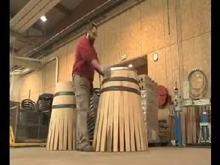 How a traditional Wine barrel is made